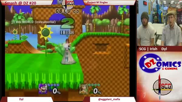 Zelda starts the match off with an almost 0-death on Luigi