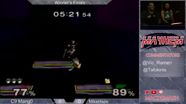 Mang0 edgeguarding Mike Haze lol