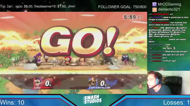 Mr. Con Con 0 – Death's some poor Captain Falcon on stream