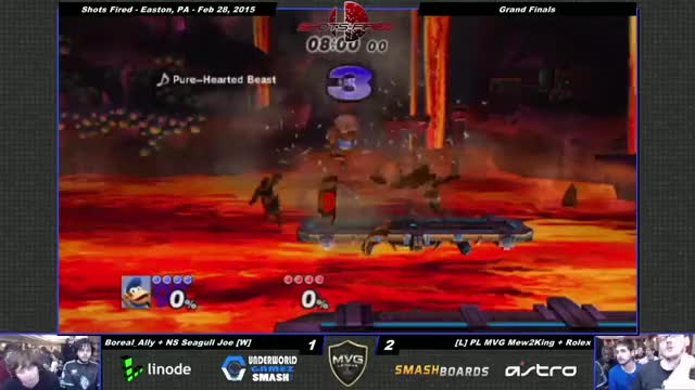 Mew2king and Ally start the game off right.