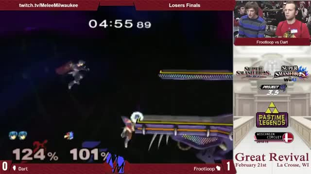 Dart with an interesting high% ken combo setup vs Frootloop