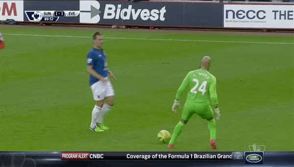 Tim Howard with some unconventional keeping