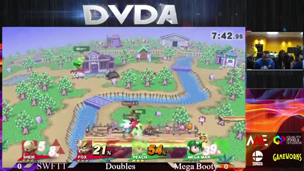 Mega Man Rush Bait Combo by Bear (Green/White Mega Man) from Vegas Smash 4 at DVDA#7. Now you see him. Now you don't.