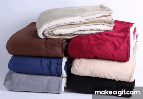 Watch and share Wholesale Sherpa Fleece Blanket GIFs by fleecepeachfur on Gfycat