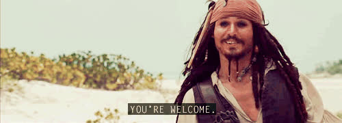 Johnny Depp, you'rewelcome, yw, you're welcome GIFs