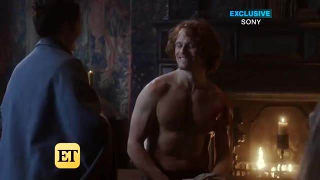 Watch this trending GIF on Gfycat. Discover more Hollywood, Outlander, celebrity, celebs, et, etonline, news GIFs on Gfycat