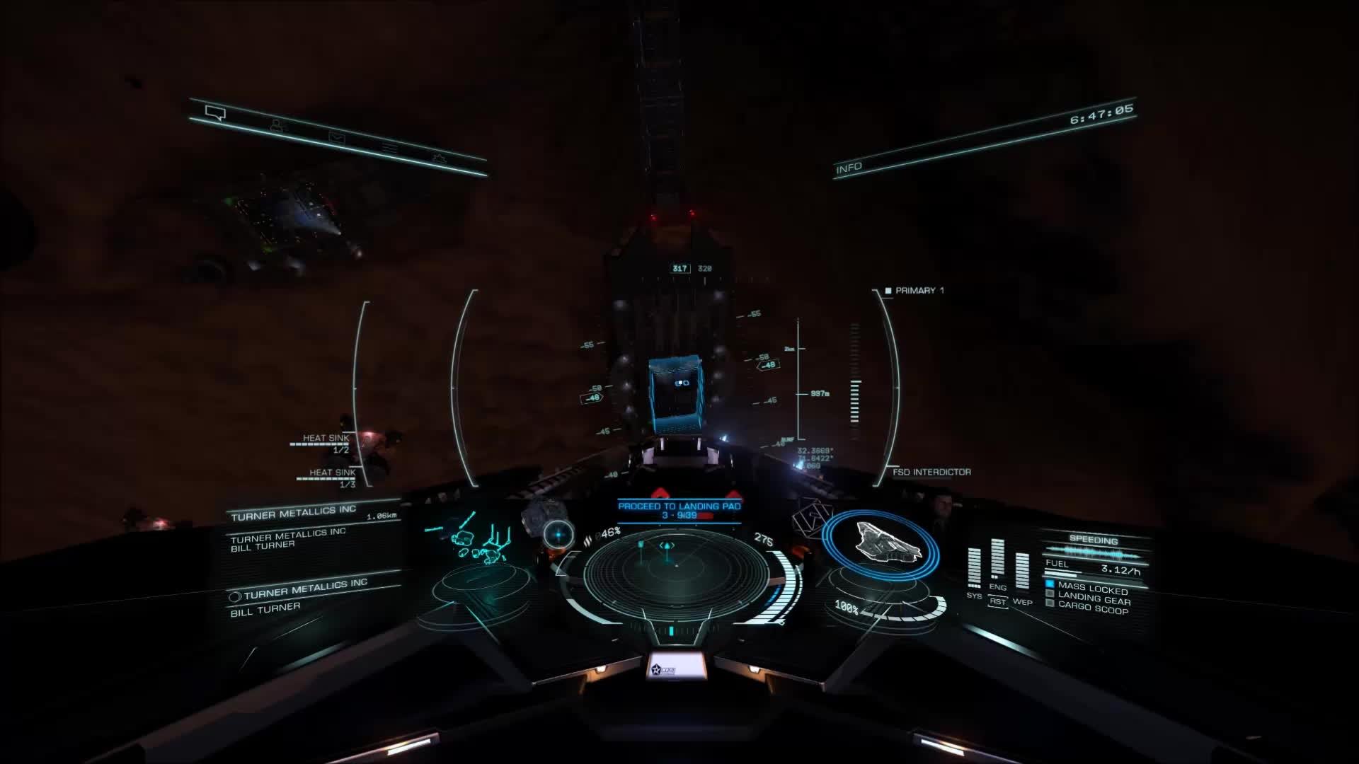 EliteDangerous, landing GIFs