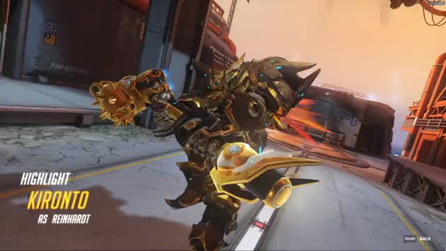Watch and share Overwatch GIFs and Reinhardt GIFs by kironto on Gfycat