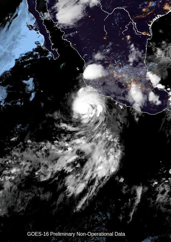 Watch and share Dora Becomes A Hurricane - June 2017 - GOES-16 GIFs by The Watchers on Gfycat