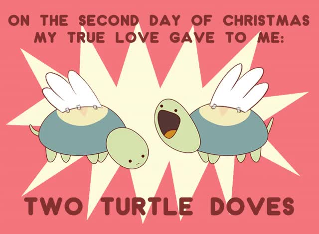 Watch On the second day of Christmas my true love gave to me...... TWO TURTLE DOVES! >> Watch Bee and PuppyCat << (credit:... GIF by Cartoon Hangover (@cartoonhangover) on Gfycat. Discover more Frederatorblog, bee and puppycat, cartoonhangover, christmas, gif, lol, turtle dove GIFs on Gfycat