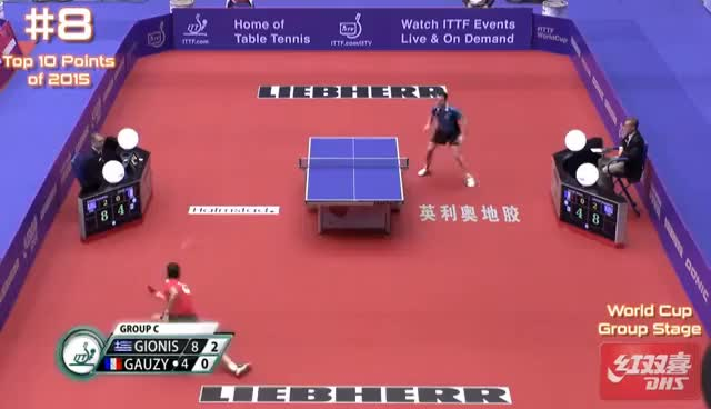 Watch and share Top 10 Table Tennis Points Of 2015 GIFs on Gfycat