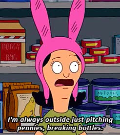 Watch and share Eat Spray Linda GIFs and Louise Belcher GIFs on Gfycat