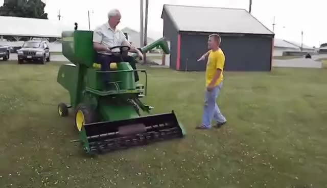 Watch and share Lawn Mowin' Combine GIFs on Gfycat