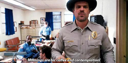 Watch this david harbour GIF on Gfycat. Discover more david harbour, morning, stranger things GIFs on Gfycat