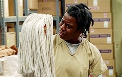 I made this rejoice, Orange is the New Black, Suzanne Warren, This woman is God's gift to man, Uzo Aduba, disabilityfest, gifs, Goodnight, Black People GIFs