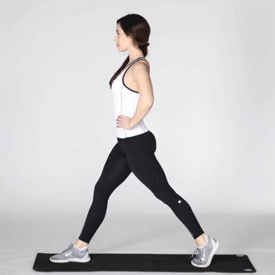 Watch and share 400x400 Lunges-1 Copy GIFs by Healthline on Gfycat