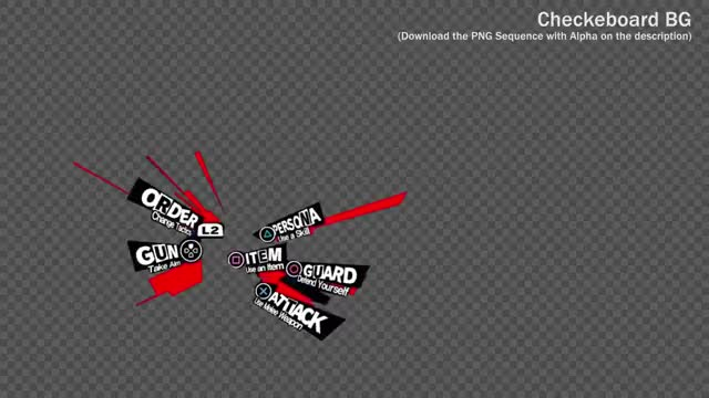Watch and share Persona 5 Animated Combat Menu (Green Screen Image Sequence) Trim GIFs on Gfycat