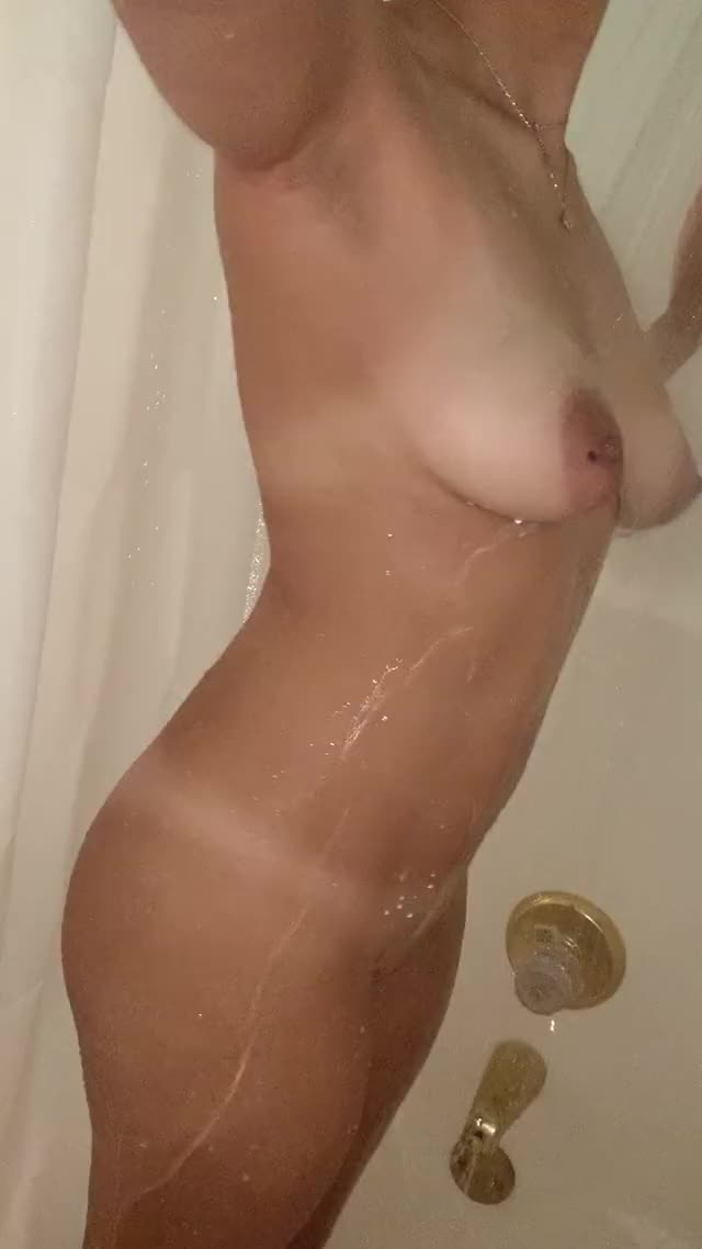 getting all clean for a date later tonight ;) 25
