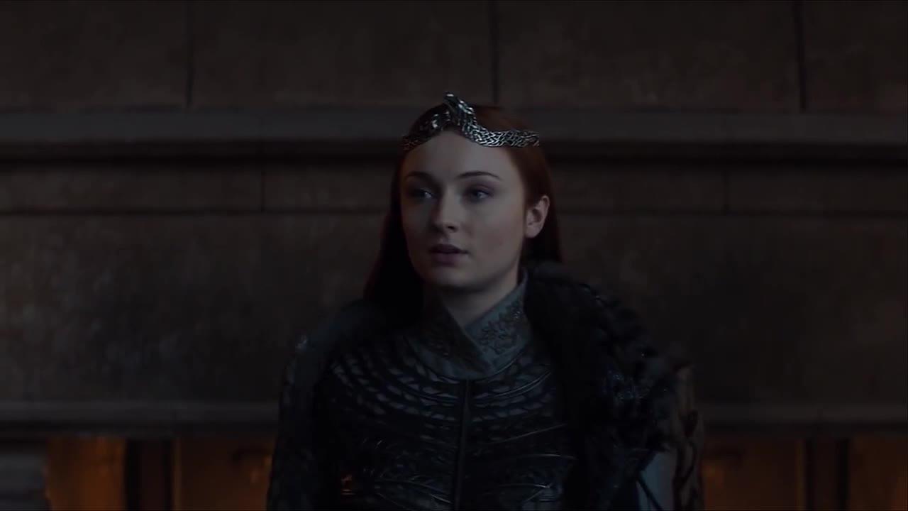 game of thrones, queen, sansa stark, season 8, sophie turner, Game of Thrones Sansa Queen in the North GIFs