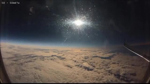 Watch and share Solar Eclipse Happening Mid Flight GIFs by t-h-a-t-o-n-e-8-6 on Gfycat