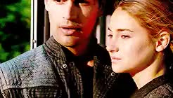 Watch and share Tobias And Beatrice GIFs and Shailene And Theo GIFs on Gfycat