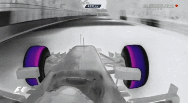 formula1gifs, Grosjean thermal cam spin - Canada FP3 2014 (reddit) GIFs
