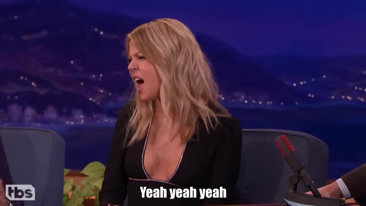 GIF Brewery, kaitlin-olson-s-scary-6-year-old-son---conan-on-tbs, Yeah yeah yeah GIFs