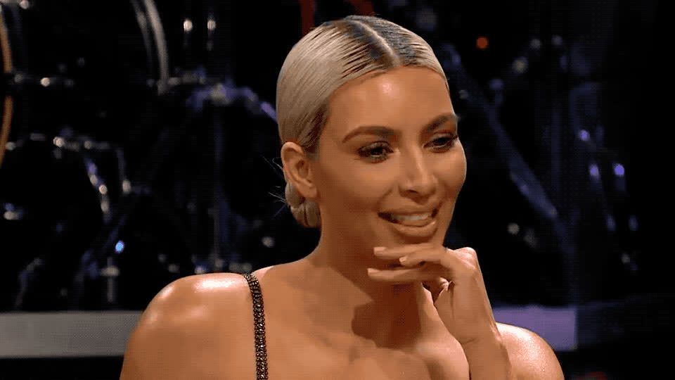 bs, corden, dumb, funny, idiot, james, not, oops, out, smart, stupid, tongue, Funny Kim GIFs