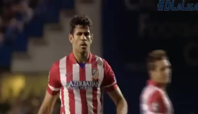 Watch and share Diego Costa Penalty Goal Chelsea Vs Atletico Madrid 1-2 HD 30-04-2014 GIFs on Gfycat