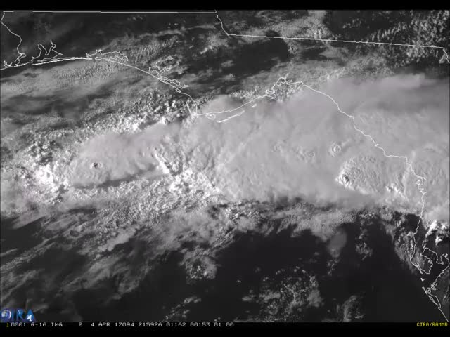 Watch and share Gulf Of Mexico Thunderstorms GIFs by SpaceBased on Gfycat