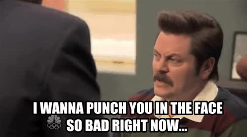 Watch and share Nick Offerman GIFs and Frustrated GIFs on Gfycat