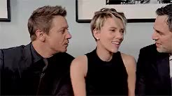 Watch and share Scarlett Johansson GIFs and Jeremy Renner GIFs on Gfycat