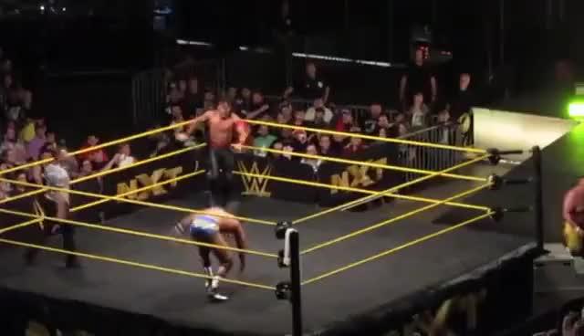 Watch and share Shinsuke Nakamura/No Way Jose Vs Samoa Joe/Riddick Moss (9-18-16) GIFs on Gfycat