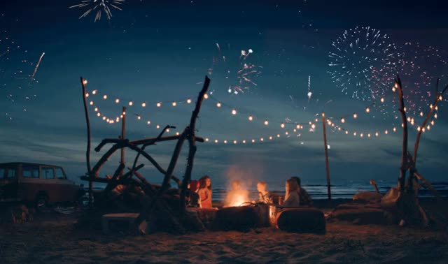 Watch and share Cinemagraph Camp Fire At The Beach GIFs by Pizza is <3 on Gfycat