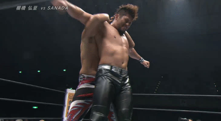 SquaredCircle, squaredcircle, [NJPW SPOILERS] Hiroshi Tanahashi vs. SANADA GIFs