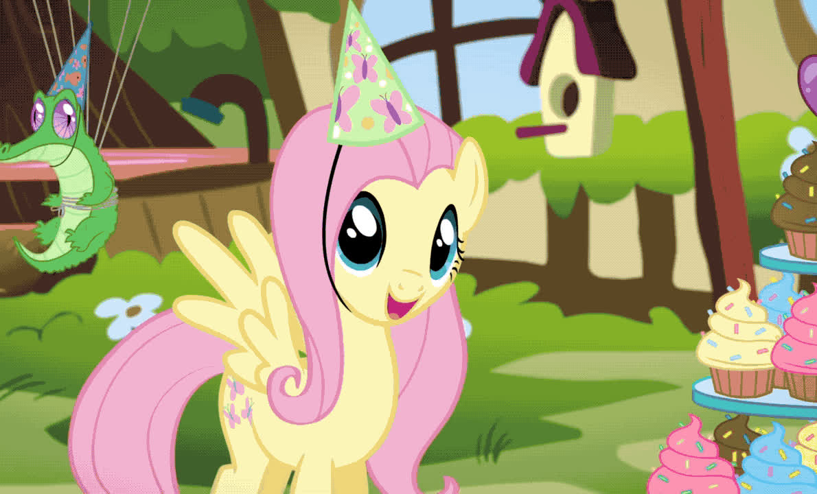bday, best, bff, birthday, cake, celebrate, excited, exciting, friend, happy, happy birthday, little, my, party, ponny, smile, surprise, wow, yay, yeah, My little pony - Happy birthday GIFs