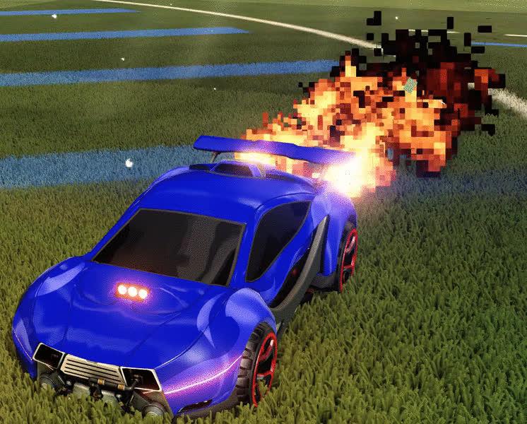 rocketleagueexchange, Rocket League - Pixel Fire Rocket Trail GIFs
