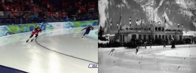 Watch and share 4. Speed Skating: Mo Tae-Bum, 2010 Vs. 1924 GIFs on Gfycat