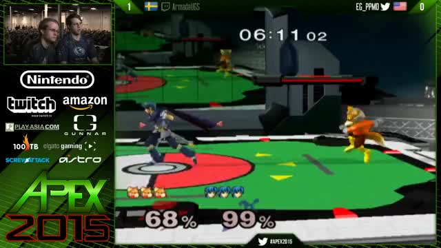 Watch PPMD with the flawless edgeguard on Armada - APEX 2015 GF (reddit) GIF by ahampster (@ahampster) on Gfycat. Discover more smashgifs GIFs on Gfycat