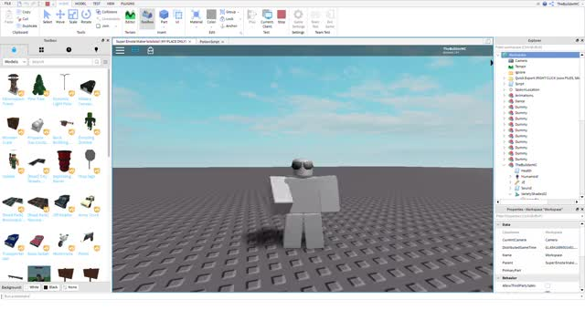 Watch and share Super Emote Maker Lolololol (MY PLACE ONLY) - Roblox Studio 2019-09-24 18-57-39 GIFs on Gfycat