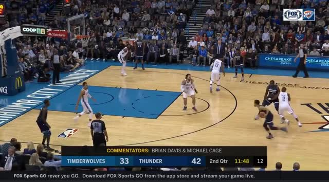 Watch and share Steven Adams Steal And Score GIFs by ajohnnapier on Gfycat