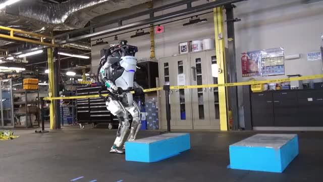 Watch Atlas from Boston Dynamics GIF by Samyak Raj Pasala (@samyakpasala) on Gfycat. Discover more Atlas, Backflip, Boston Dynamics, Mechanical, Robot GIFs on Gfycat