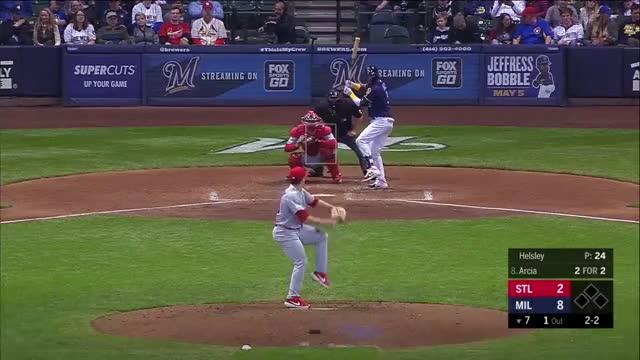 Watch and share Milwaukee Brewers GIFs and Baseball GIFs by juwanhoward4 on Gfycat