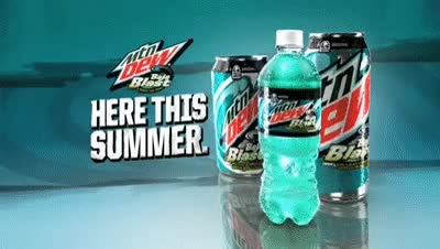 Watch and share Baja Blast | Commercial | Mountain Dew GIFs on Gfycat