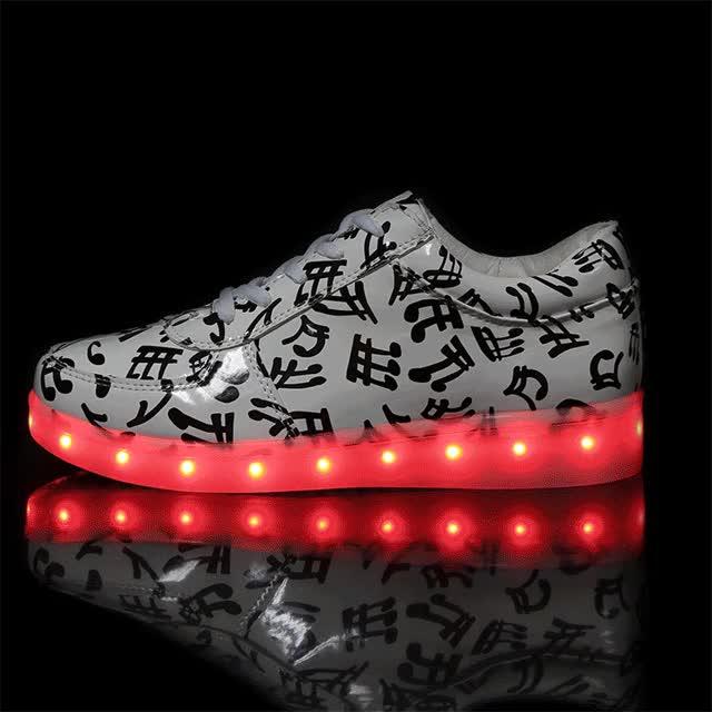 Watch and share Led Font Light Font Shoes Font Women Font Casual Luminous Tenis GIFs on Gfycat