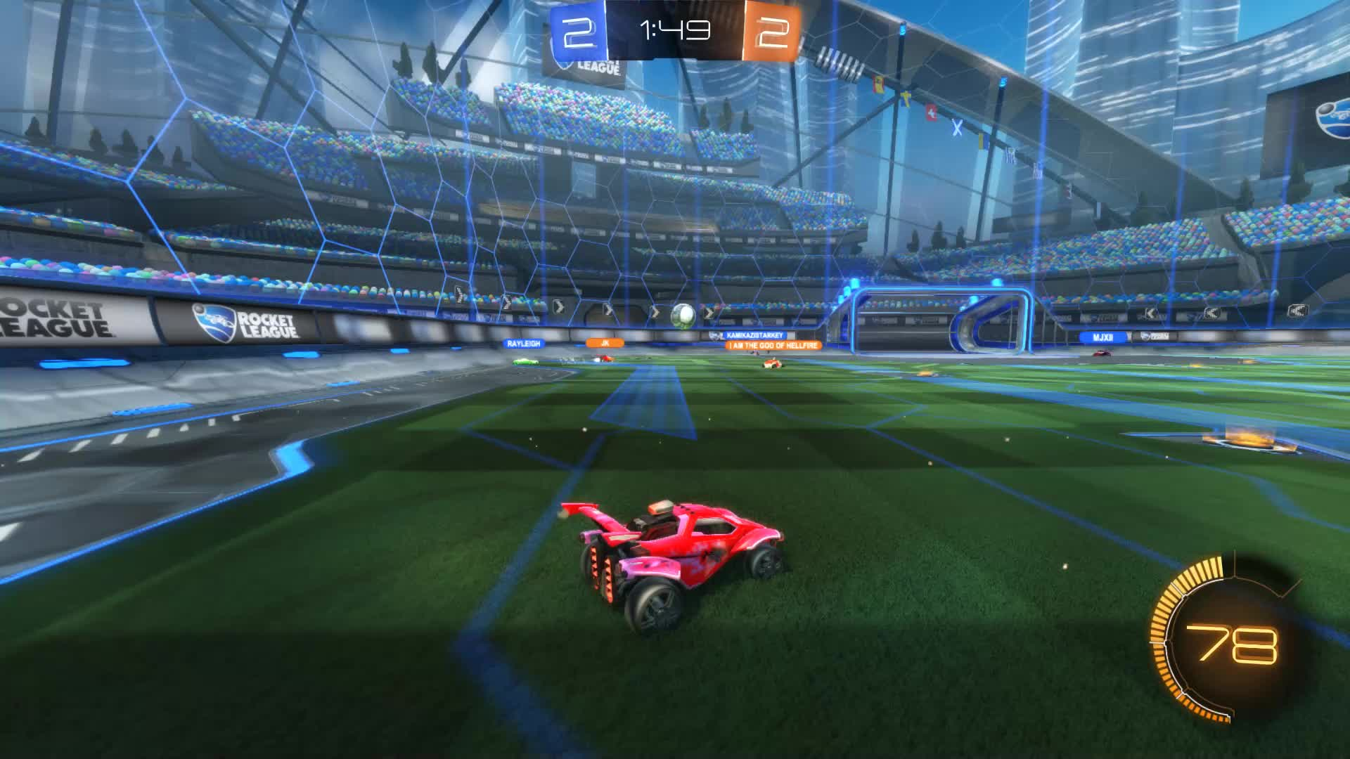 Gif Your Game, GifYourGame, Rocket League, RocketLeague, SCOTLAND FOREVER, Goal 5: SCOTLAND FOREVER GIFs
