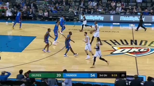 Watch 2 GIF by @prejuce on Gfycat. Discover more Boston Celtics, Oklahoma City Thunder, basketball GIFs on Gfycat