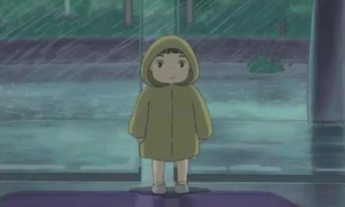Watch and share Sadhuman:Ponyo (2008)( Tags: Studio Ghibli Ghibli Hayao Miyazaki Miyazaki Ponyo On The Cliff By The Sea Ponyo Gif Sosuke Rain R GIFs on Gfycat
