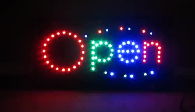 Watch and share EBay A1groups LED Light Bright OPEN SIGN FOR COFFEE/STORE OPENING/YOGA/ICE-CREAM/SUSHI GIFs on Gfycat