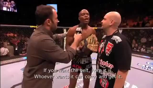 Watch belt GIF on Gfycat. Discover more anderson silva, mma, ufc GIFs on Gfycat